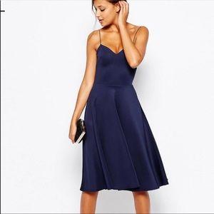 ASOS scuba fabric midi dress